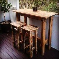 Outdoor Bar Table And Stools 15 Best Outdoor Bar Stools Images On Pinterest Pallet Wood