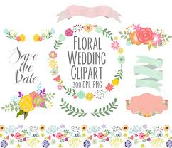 flowers wedding floral clipart digital wreath floral