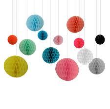 hanging decorations paper honeycomb bunting balls bedrooms