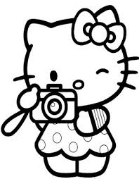 coloring pages kitty kids