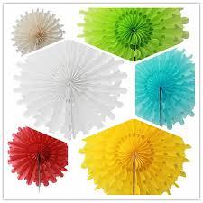 hanging paper fans aliexpress buy 30pcs 12cm tissue paper snowflake fans