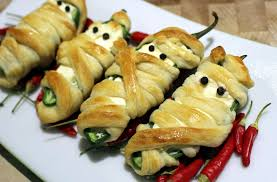 appetizer halloween jalapeno popper mummy recipe for your halloween party food youtube