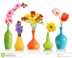spring flowers in vases royalty free stock image image 12522956