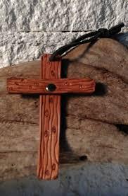 cross home decor handmade brown leather cross spiritual religious bookmark rearview