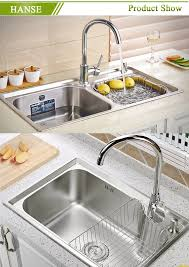 Ketb Stainless Steel Triple Sink  Compartment Kitchen Sink - Three compartment kitchen sink