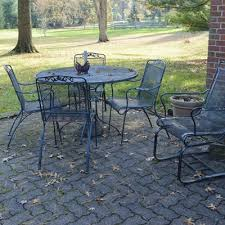 Wrought Iron Patio Tables Vintage Outdoor Wrought Iron Patio Furniture Set Ebth