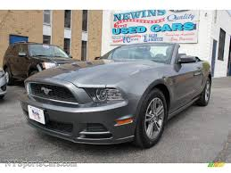 2013 Ford Mustang Black 2013 Ford Mustang V6 Premium Convertible In Sterling Gray Metallic