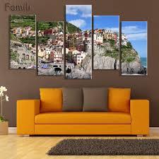 aliexpress com buy hd 5pcs wall art canvas fabric poster italy