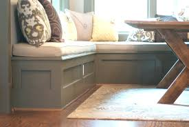 Simple Storage Bench Plans by Nook Bench Best Corner Table With Storage Regardingdiy Kitchen