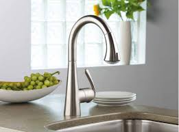 simple brushed nickel kitchen faucet pull down brushed nickel