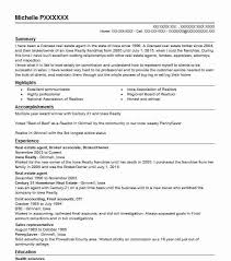 Sample Resume For Real Estate Agent by Best Real Estate Agent Resume Example Livecareer