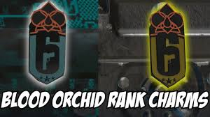 rainbow six siege blood orchid rank charms platinum gold no