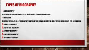 biography definition and characteristics biography definition function and types