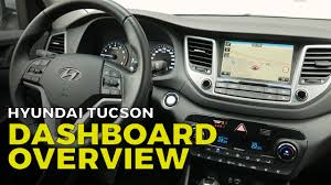 hyundai tucson dashboard overview instrument panel interior