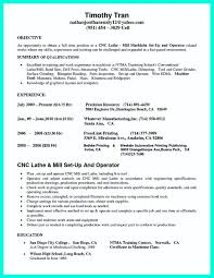 Fake Work Experience Resume Cnc Programmer Resume Sample Resume For Your Job Application