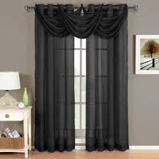Sheer Curtains With Valance Black Curtain Valance