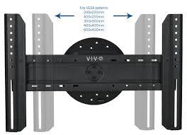 mount port1vivo full rotation portrait fixed flat vesa tv wall