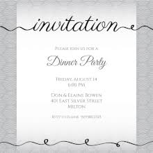 Invations Free Printable Dinner Party Invitation Templates Greetings Island