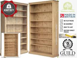 Solid Pine Furniture Heavy Duty Solid Pine Or Oak 7ft X 4ft Bookcase