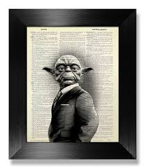 1st wedding anniversary gifts for him wars yoda poster 1st wedding anniversary gift him