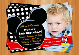mickey mouse birthday invitations create your own mickey mouse invitations mickey mouse photo birthday