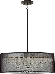 Linen Pendant Light Hinkley Fr38906blk Fiona Modern Black 30 Drum Lighting Pendant