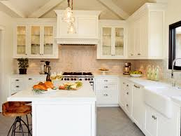 Kitchen Cabinets Anaheim by Granite Countertop Antique White Glazed Cabinets Brushed Metal