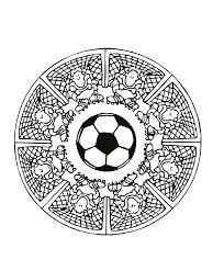 free mandalas page mandalas foot football mandala coloring page