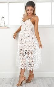 white dresses day delight dress in white crochet showpo
