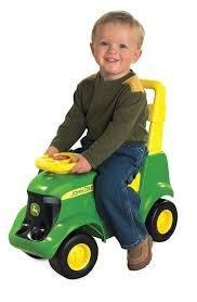 amazon com john deere sit u0027n scoot activity tractor toys u0026 games