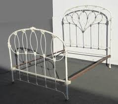 antique iron bed french country cottage white full headboard