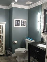 painting grey wall color wood mirror for small bathroom ideas