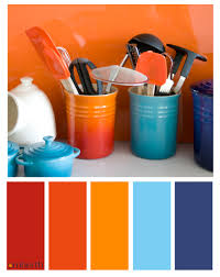 blue and orange interior design for colorful decor your home