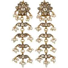 Vintage Pearl Chandelier Earrings Antique Anglo Indian Gold Chandelier Earrings For Sale At 1stdibs
