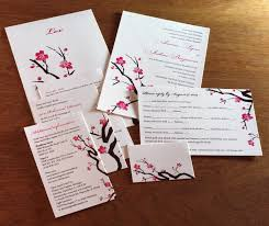 Cherry Blossom Wedding Invitations Digital Printing For Wedding Invitations Letterpress Wedding