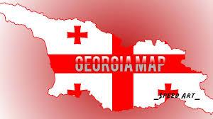 Georgia Flag Georgia Flag Map Speed Art 6 Youtube