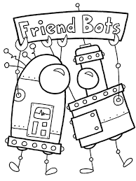 coloring pages coloring pages robots decorative robot 2 6