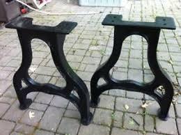antique metal table legs 28 cast iron table legs industrial vintage farmhouse black ebay