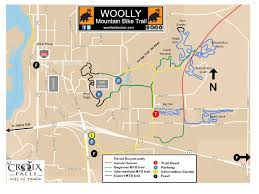 Namekagon River Map Woolly Bike Club U0027s New Erratic Rock Trail Mountain Bike Skills