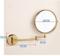 cosmetic gold mirror magnifying mirror 8 inch beauty mirror