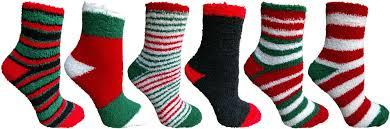 fuzzy christmas socks 60 units of christmas print fuzzy crew socks at