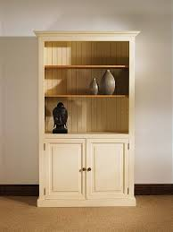 Cream Wood Bookcase Cream Bookcase With Doors 17085