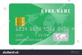 Credit Card Design Template Realistic Credit Card Design Template Chip Stock Vector 719455123