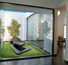 Interior Courtyard House Plans by Home Designs Gallery Amazing Interior Garden With Modern Glazed