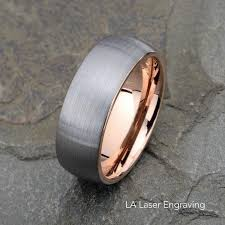 tungsten wedding band brushed domed tungsten ring 8mm