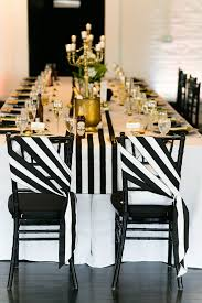 Black And White Striped Chair by A Black And White Striped Greenery Wedding At Loft310 In Kalamazoo