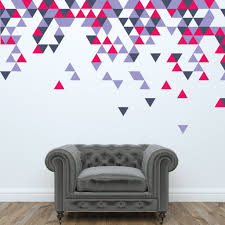 geometric abstract triangle wall stickers wallboss wall stickers abstract triangle wall stickers