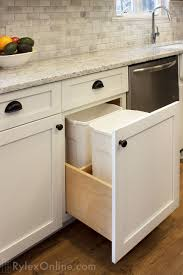 kitchen cabinet trash pull out trash pull out cabinet orange county ny rylex custom cabinetry