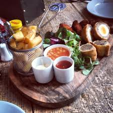 cuisine to go pub food platter i think pots and serving dishes can go a