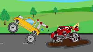 Tow Truck Save Ironman Monster Truck For Children Kids Video